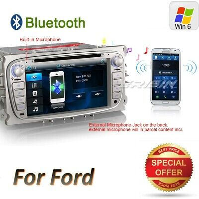 DAB+Ford Autoradio Mondeo Focus C S-Max Focus Mondeo GPS CD BT DTV 3G CAM 7189IT
