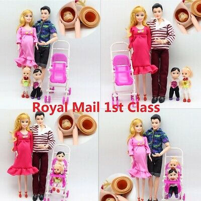 UK Kids Gift Dolls Family Educational Real Pregnant Doll Happy Family for Barbie