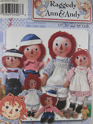 SIMPLICITY 8043 SEWING Pattern Raggedy Ann & Andy Doll and Clothes ...