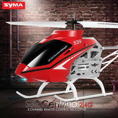 Kids Gift Toy Outdoor 3CH RC Resistant Shatterproof Crash  Helicopter Syma S39