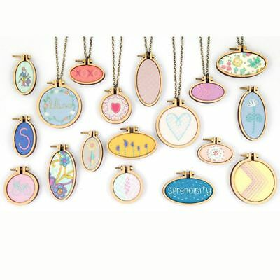 Crafts DIY Embroidery Hoop Wooden Frame Hand Cross Stitching Hoop Framing Decor