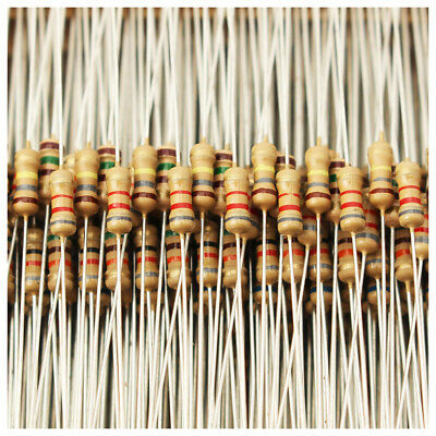 1500pcs 1 ohm~ 10M ohm 1/4W 75 Values Carbon Film Resistors Assorted kit 5% D4U2