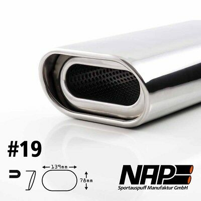 Nap Weld-On End Pipe Oval 0 1/32x5 15/32x3 1/16in Rolled Edge with Abe