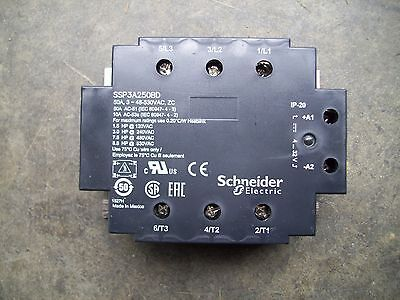 SCHNEIDER ELECTRIC SSP3A250BD Solid State Relay, 4-32VDC, SCR, 50A, UL