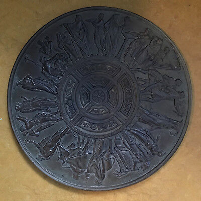 "19th Century Victorian  ""Bronze patinated"" Cast Iron Manhole Cover"