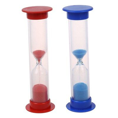 2 hourglass watch colored sand children 2 minutes S2P6