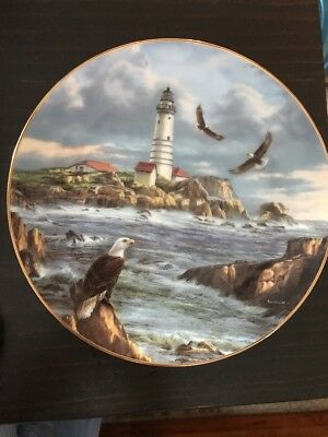 "Collector Lighthouse Plate "" Vigilant Guardian  "" by Rudi Reichardt.  L/E ExCond"