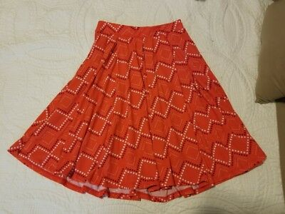 Cute!! LuLaRoe Madison Skirt Size Small Squares/Diamonds  Red White..