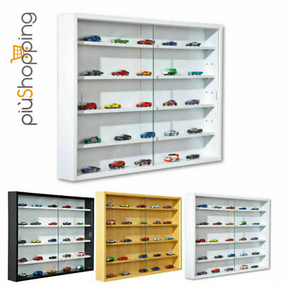 Showcase Display Model-Making Glass Cabinet Wood With Door Glass 5 Shelves