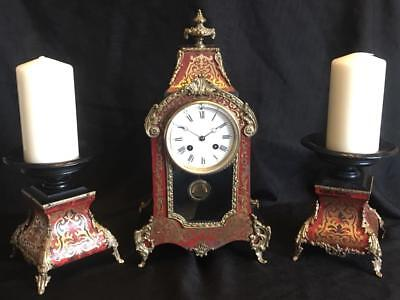 Antique french boulle clock garniture signed R&C PARIS LONDON