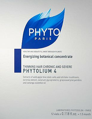 Phytolium 4 Thinning Hair Treatment, PHYTO PARIS, 12 vials