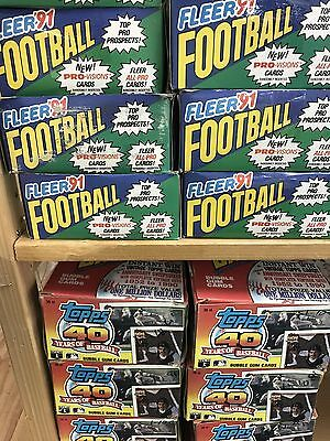 Vintage Old Baseball Football Basketball Cards Unopened Packs Huge 200 Card Lot