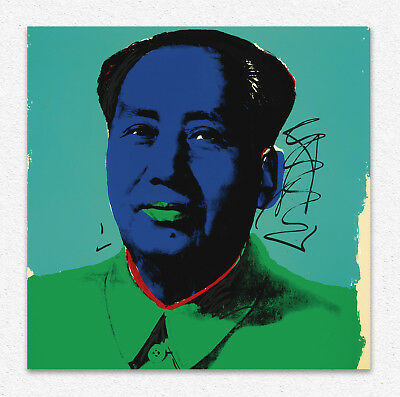 Andy Warhol  MAO  90 X 90 cm  STAMPA TELA CANVAS PRINT TOILE LIENZO POP ART