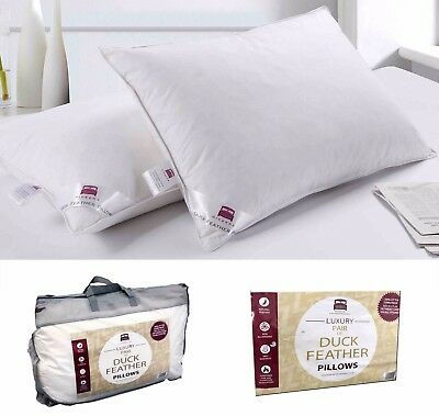 2 X Duck Feather & Down Hotel Quality Pillows
