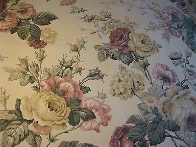 Vintage Dan River Full Double Fitted SHEETS Flat  Victorian Country Decor USA