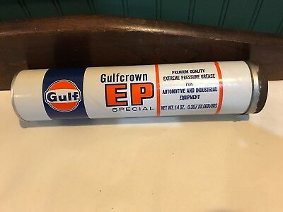 Vintage Gulf Gulfcrown Ep Extreme Pressure Special Grease 14Oz Tube Can (Full)