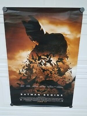 Batman Begins Movie Poster 1 Sided ORIGINAL Ver E 27x40 CHRISTIAN BALE - ROLLED