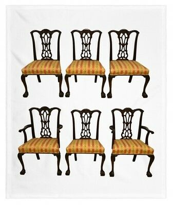 6 Solid Mahogany Chippendale Style Dining Chairs Ball and Claw Feet