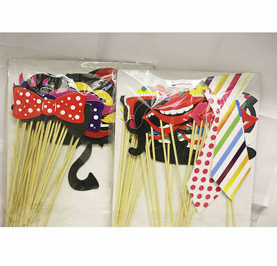 30Pc DIY Wedding Birthday Party Mask Photo Booth Props on A Stick Photography