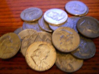 (20) Franklin Half Dollars Mixed Dates And Mints Nice 10$  Roll
