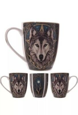 Wolf Head Mug by Lisa Parker Design Coffee Cup New Bone China Mug in Gift Box