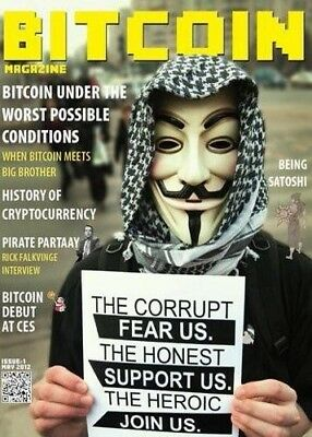 Bitcoin Magazine Issue #1 BN In Packaging --- 60% Off   BitcoinMagazine.com L@@K