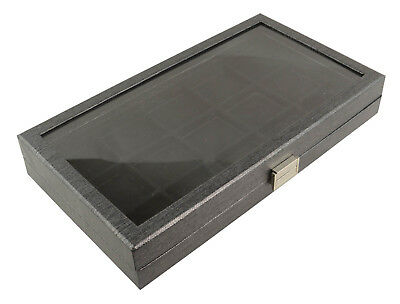 Large Black Display Tray Case with Acrylic Lid & Choice of Black Insert
