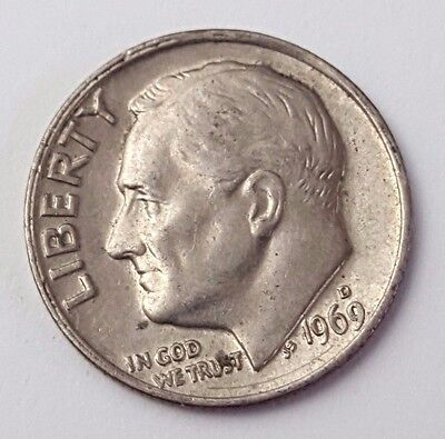 Dated : 1969 - USA - Roosevelt - One Dime - Coin - United States of America
