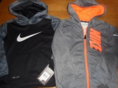 NIKE Lot of 2 New Dri-Fit Toddler Boys Hoodies Size 4 T