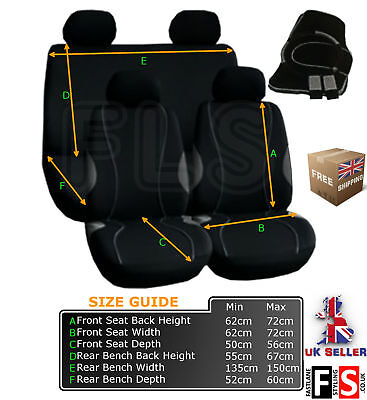 Universal Fabric Full Set Car Seat Covers - Harness - Mats - A128Gf Tyt1
