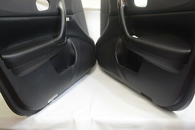 Door Panel Armrest Leather Synthetic Cover Fits Nissan Maxima 09-14 Black