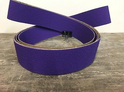 "2""x72"" New Ceramic High Perf. Purple Sanding Belts Variety Packs 3pc (36,60,120)"