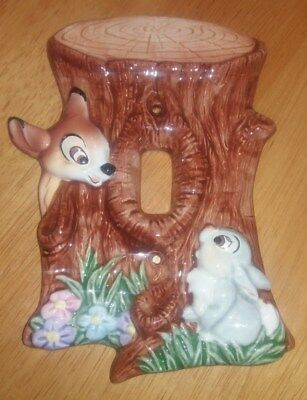 Vintage Disney Bambi Ceramic Switchplate Cover by Schmid