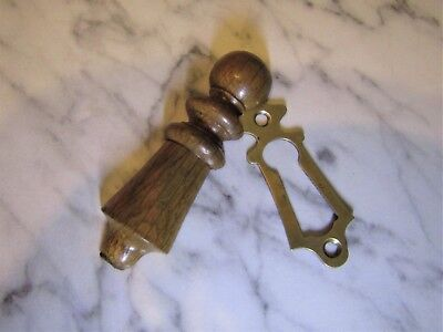 SALVAGED EDWARDIAN ESCUTCHEON KEY HOLE COVER - to go with door handle rim lock