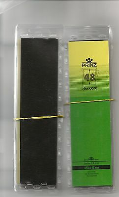 PRINZ STAMP MOUNTS BLACK 48 mm STRIPS x25 IN PACK