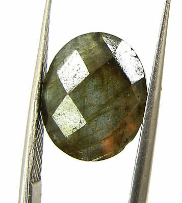 4.40 Ct Natural Labradorite Loose Faceted Gemstone Oval Checker Cut - 18792