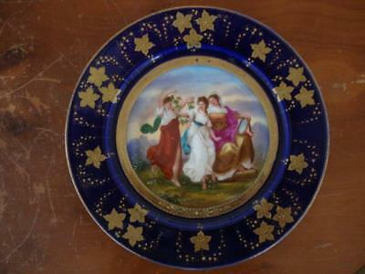 Stunning Antique Royal Vienna Hand Painted Porcelain Plate. #1. ~ After Kaufmann