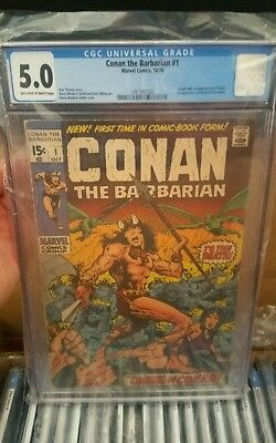 Conan the Barbarian #1 (Oct 1970, Marvel) CGC 5.0