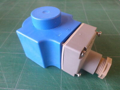 Danfoss Solenoid Coil 24v 12w part ref 018F6807 c/w IP67 connection box - NEW