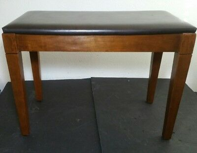 Vintage Wooden Piano Bench