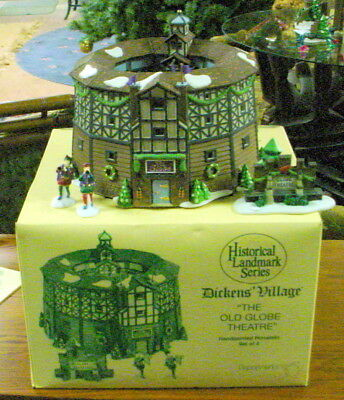 Department 56 Dickens Village The Old Globe Theatre Holiday Collectible Nib