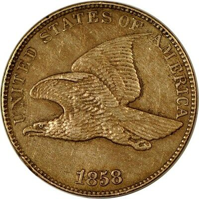 1858 1C Large Letters Flying Eagle Cent XF  K2919