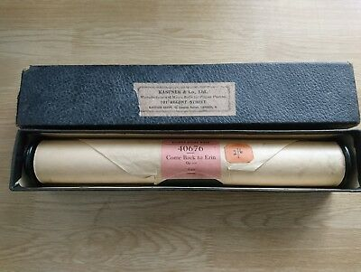 vintage Pianola music roll come back to Erin 40676 kastner & Co Ltd London