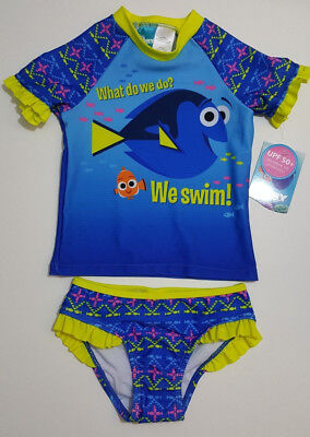 New Finding Dory Rash Guard Bathing Suit Size 4T NWT