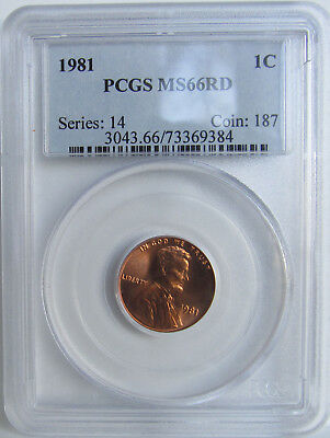 1981-P Lincoln Cent PCGS MS66RD *