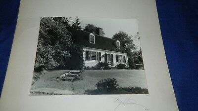 vintage 1945 Ray Hand pencil signed Original Photograph of CapeAnne home