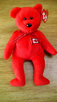 Ty Beanie Baby ~ PIERRE the Bear ~ Canada Exclusive ~ MINT with MINT TAGS