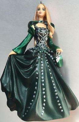 2004 Celebration Barbie Hallmark Ornament #5 Mattel Green Dress