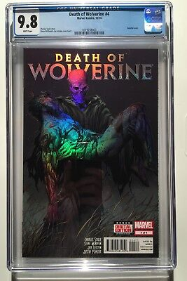 Death of Wolverine #4 CGC 9.8 Holofoil Cover Marvel Comics 2014