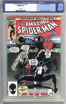 Amazing Spider-Man #283 (1986) CGC Graded 9.8 White Pages - Old Label!